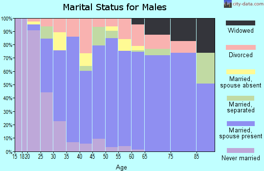 Zip code 99320 marital status for males