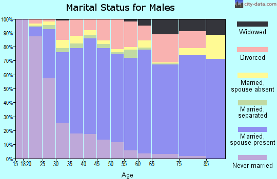 Zip code 99645 marital status for males