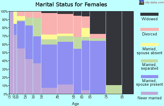 Zip code 00741 marital status for females