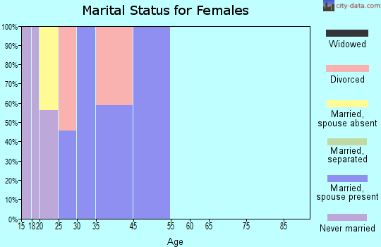Zip code 00934 marital status for females