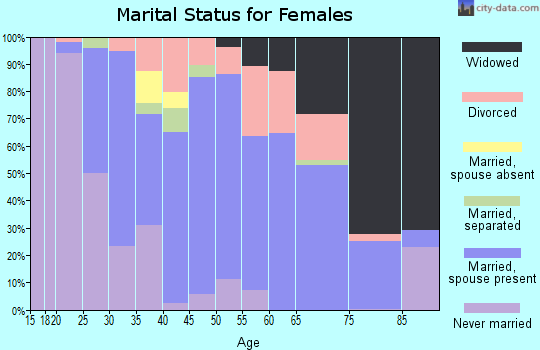 Zip code 01030 marital status for females