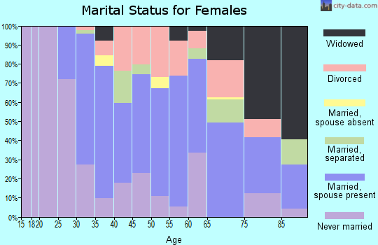 Zip code 01082 marital status for females