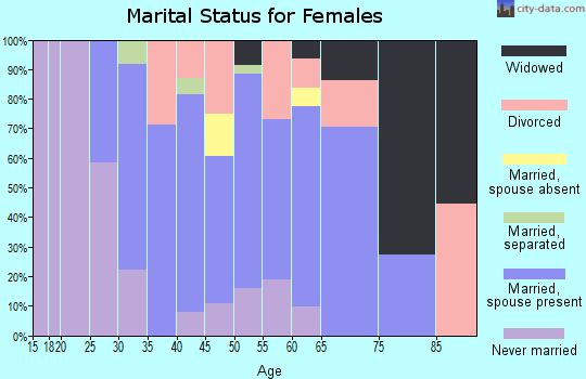 Zip code 01255 marital status for females