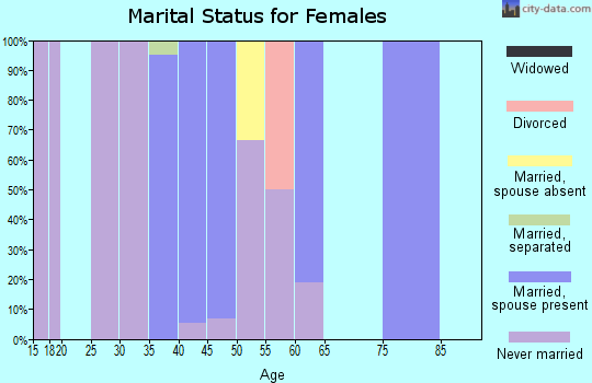 Zip code 01467 marital status for females