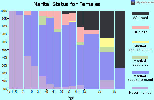 Zip code 01507 marital status for females