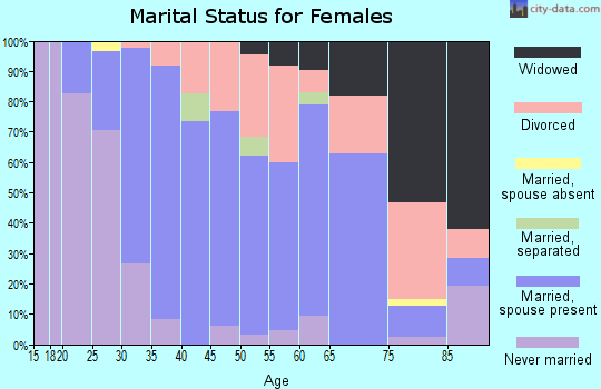 Zip code 01540 marital status for females