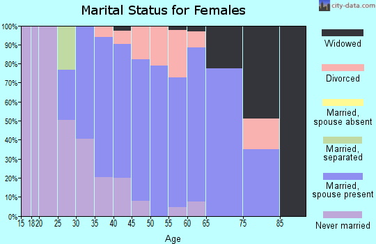 Zip code 01566 marital status for females