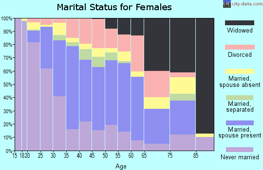 Zip code 01851 marital status for females