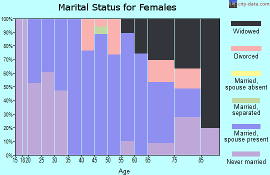 Zip code 02032 marital status for females