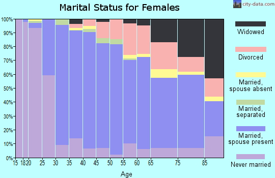 Zip code 02038 marital status for females