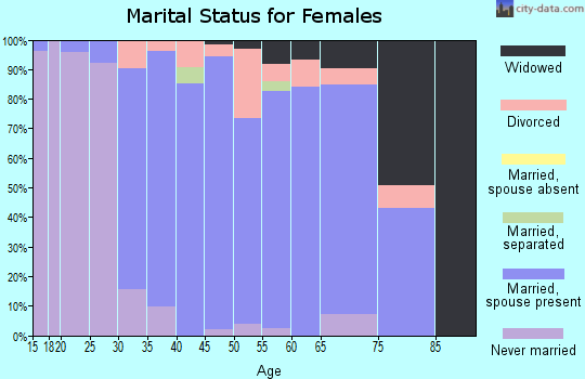 Zip code 02056 marital status for females