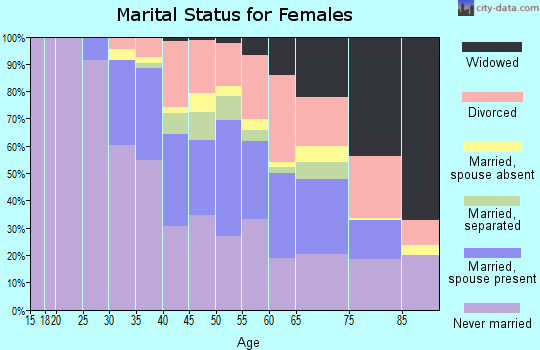 Zip code 02127 marital status for females
