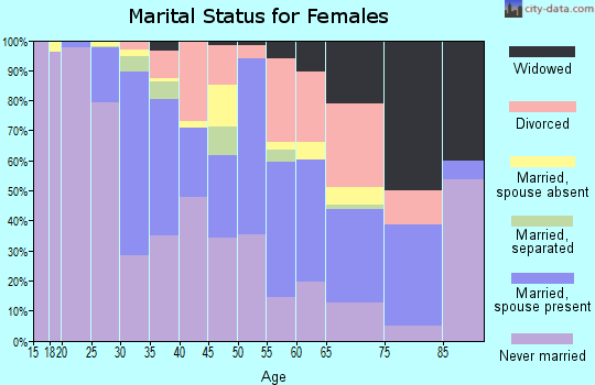 Zip code 02141 marital status for females