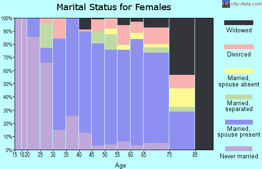 Zip code 02339 marital status for females