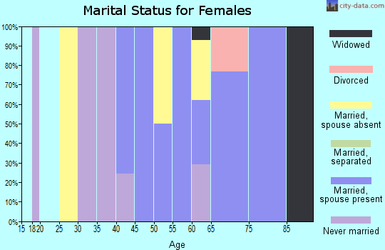 Zip code 02534 marital status for females