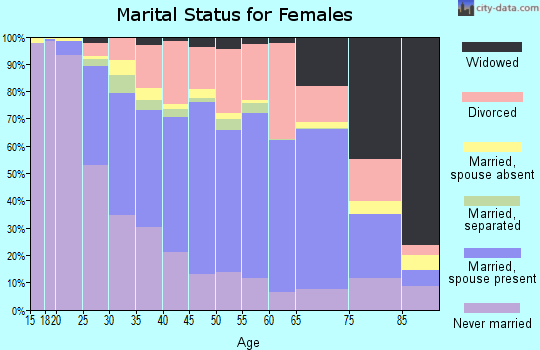 Zip code 03104 marital status for females