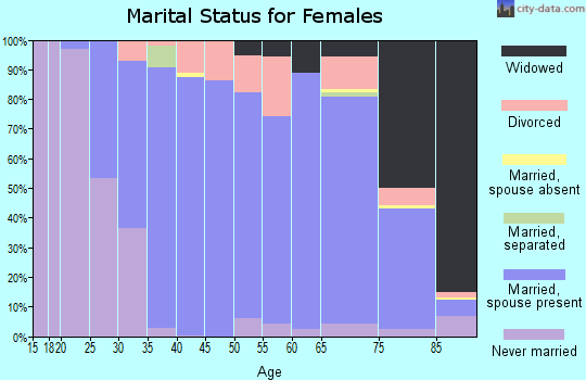 Zip code 03110 marital status for females