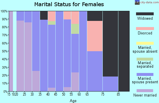 Zip code 03287 marital status for females