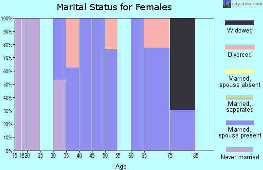 Zip code 03810 marital status for females