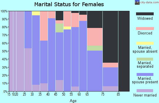Zip code 03903 marital status for females