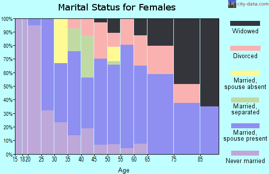 Zip code 04220 marital status for females