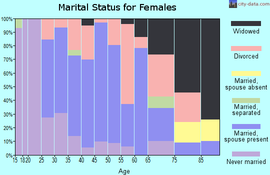Zip code 04224 marital status for females