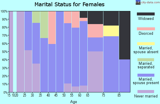 Zip code 04256 marital status for females