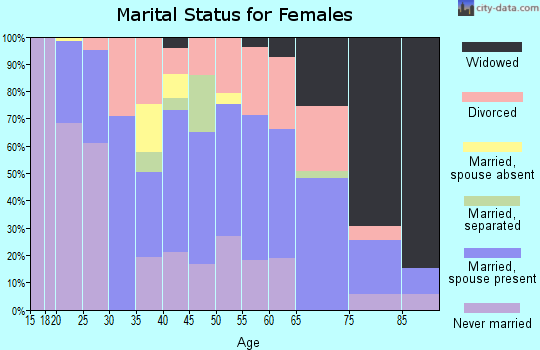 Zip code 04276 marital status for females
