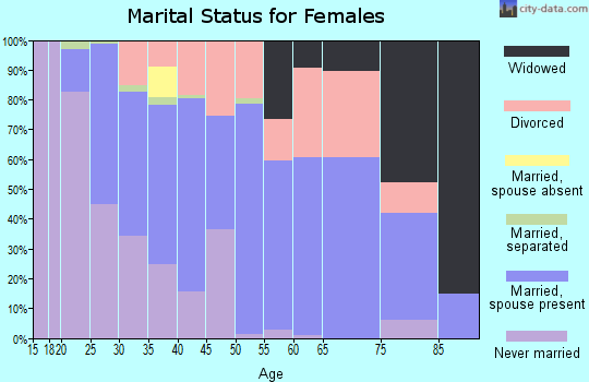 Zip code 04280 marital status for females