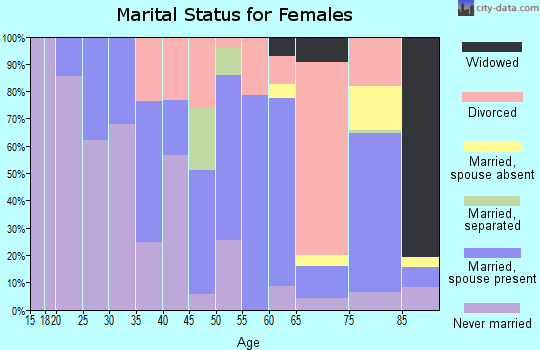 Zip code 04281 marital status for females