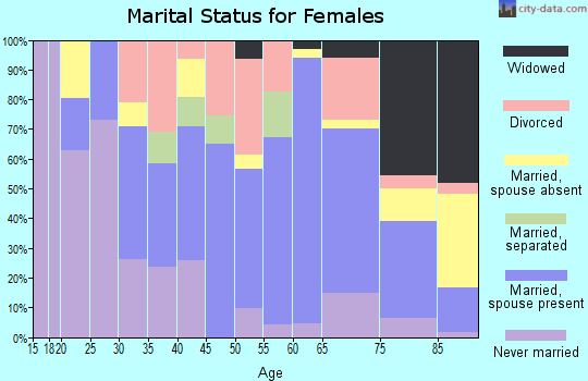 Zip code 04289 marital status for females