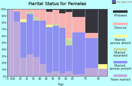 Zip code 04345 marital status for females