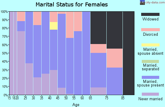 Zip code 04352 marital status for females