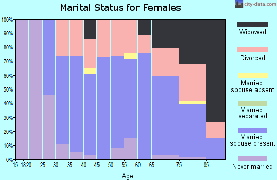 Zip code 04364 marital status for females