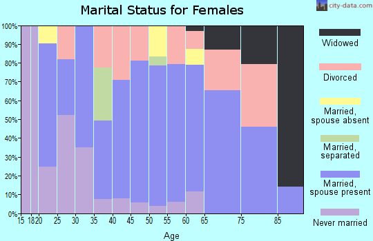 Zip code 04419 marital status for females