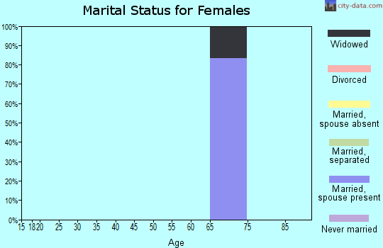 Zip code 04442 marital status for females