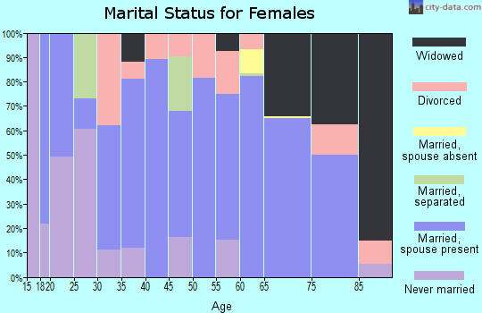 Zip code 04457 marital status for females