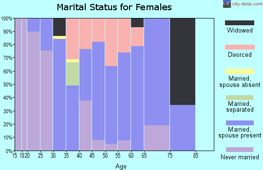 Zip code 04496 marital status for females