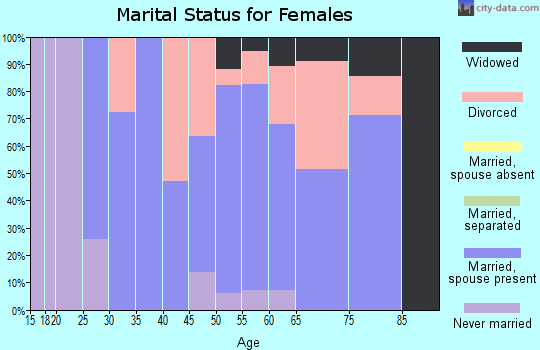 Zip code 04623 marital status for females
