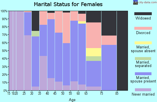 Zip code 04634 marital status for females