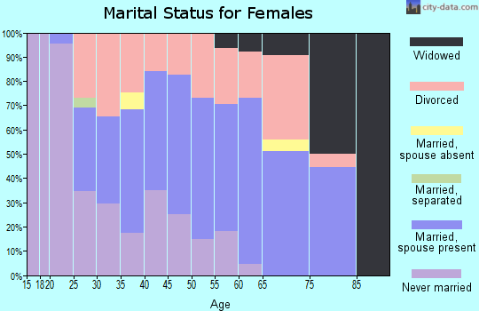 Zip code 04667 marital status for females