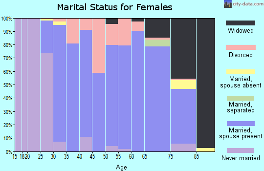 Zip code 04743 marital status for females