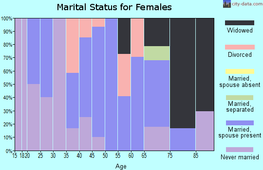 Zip code 04760 marital status for females
