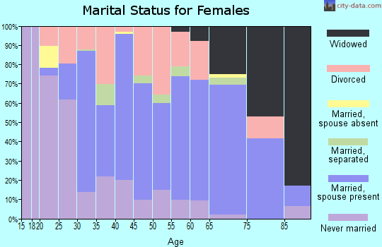 Zip code 04769 marital status for females