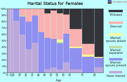 Zip code 04841 marital status for females
