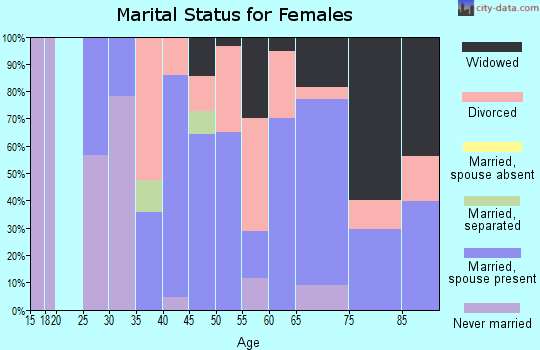 Zip code 04856 marital status for females