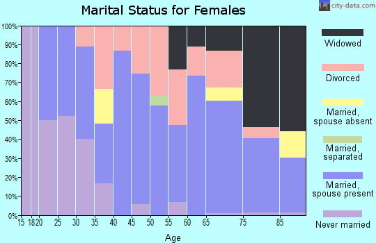 Zip code 04937 marital status for females