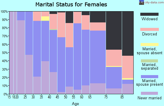 Zip code 04938 marital status for females