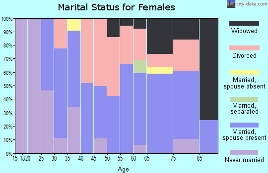 Zip code 04953 marital status for females