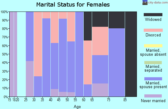 Zip code 05086 marital status for females